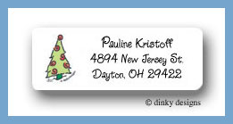 Prancing pines, swirl return address labels personalized