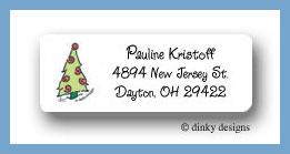 Prancing pines, swirl return address labels personalized