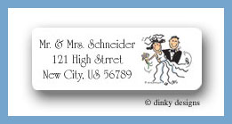 Newlyweds return address labels personalized