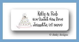 Wedding day return address labels personalized