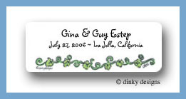 Here's the church ivy return address labels personalized