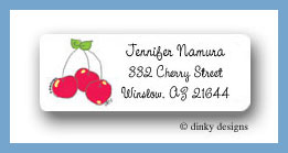 Cherry pickin' return address labels personalized