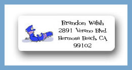 Running shoes return address labels personalized