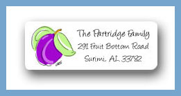 Plum return address labels personalized