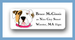 Pitbull return address labels personalized