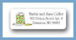 Jar of olives return address labels personalized