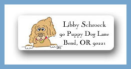 Cocker Spaniel return address labels personalized