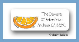 Margarita fixins orange return address labels personalized