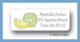Margarita fixins lemon and lime return address labels personalized