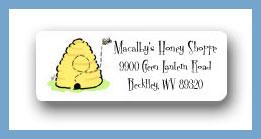 Buzzin' bee hive return address labels personalized