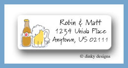 Bottle of beer return address labels personalized