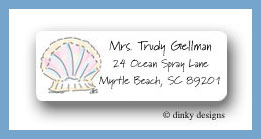 Seashell address labels personalized