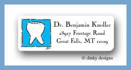 Tooth doctor return address labels personalized