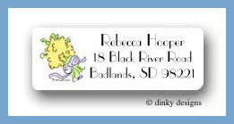 Yellow bouquet return address labels personalized
