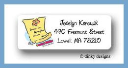 Notable loose-leaf return address labels personalized
