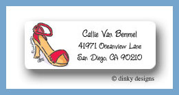Strappy sandal return address labels personalized
