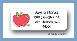Apple return address labels personalized