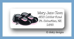 Mary Jane return address labels personalized