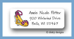 Strappy leopard sandle return address labels personalized