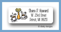 Coffee talk, too return address labels personalized