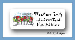 Window box return address labels personalized