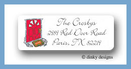 Knock, knock new home return address labels personalized
