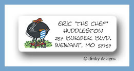 BBQ picnic return address labels personalized