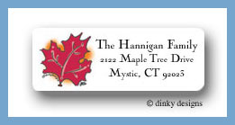 Fall foliage return address labels personalized