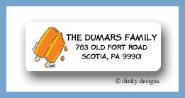 Popsicle sticks return address labels personalized