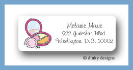 Cosmetic counter return address labels personalized