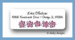 Hibiscus flowers return address labels personalized