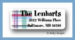 Madras return address labels personalized