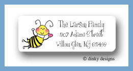 Bee mine return address labels personalized