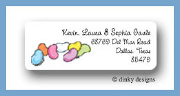 Bean invited return address labels personalized