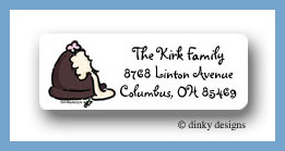 Chocolate truffle white return address labels personalized