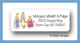 Angels on earth return address labels personalized