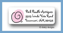 Twirly blue, return address labels personalized