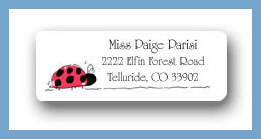 Ladybug return address labels personalized