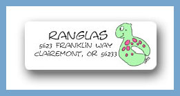 Pool party floaties return address labels personalized
