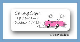 Convertible pink return address labels personalized