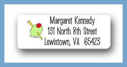 Martini olive return address labels personalized