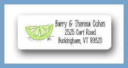 Margarita glass lime return address labels personalized