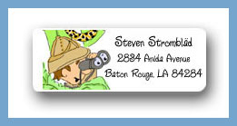 Safari return address labels personalized