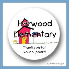 School house round stickers 2.5