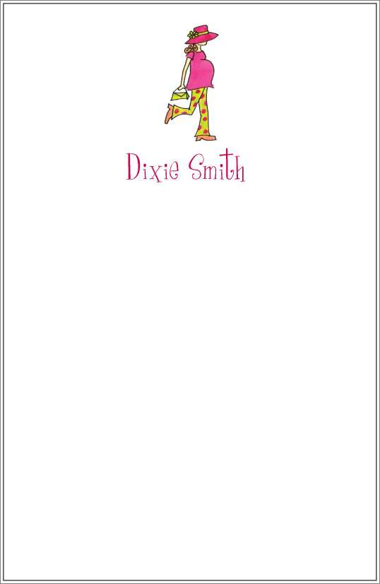 sassy mama notepad or notesheets in acrylic holder, personalized