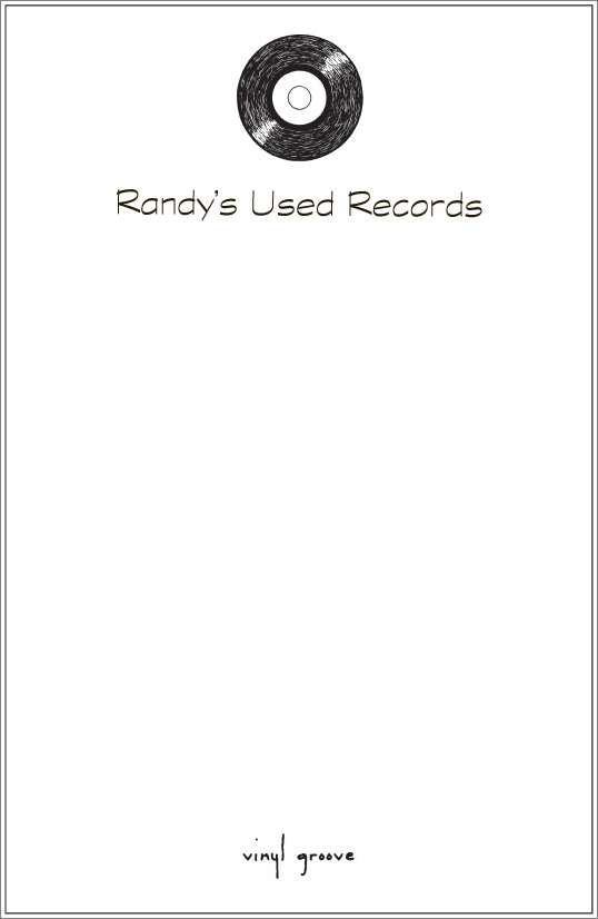 vinyl groove - record notepad or notesheets in acrylic holder, personalized