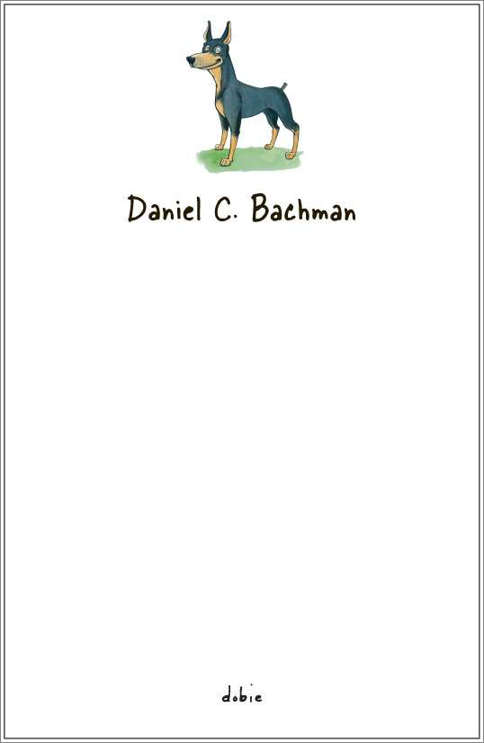 dobie notepad or notesheets in acrylic holder, personalized