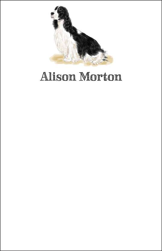 springer  notepad or notesheets in acrylic holder, personalized