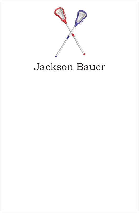 lacrosse  notepad or notesheets in acrylic holder, personalized