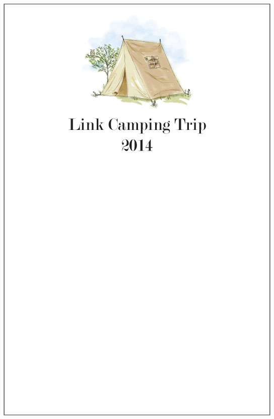 tent  notepad or notesheets in acrylic holder, personalized
